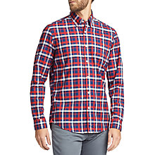 Buy BOSS Lod Regular Fit Check Cotton Shirt, Orange Online at johnlewis.com