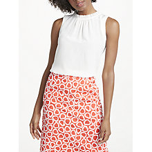 Buy Boden Effie Pure Silk Sleeveless Top, Ivory Online at johnlewis.com