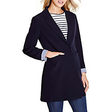 Buy Yumi Longline Blazer, Navy Online at johnlewis.com