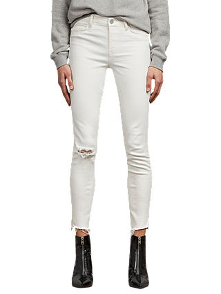 Buy AllSaints Grace Ankle Fray Jeans, Chalk White, 25 Online at johnlewis.com