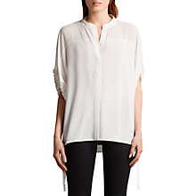 Buy AllSaints Arlesa Shirt, Chalk White Online at johnlewis.com