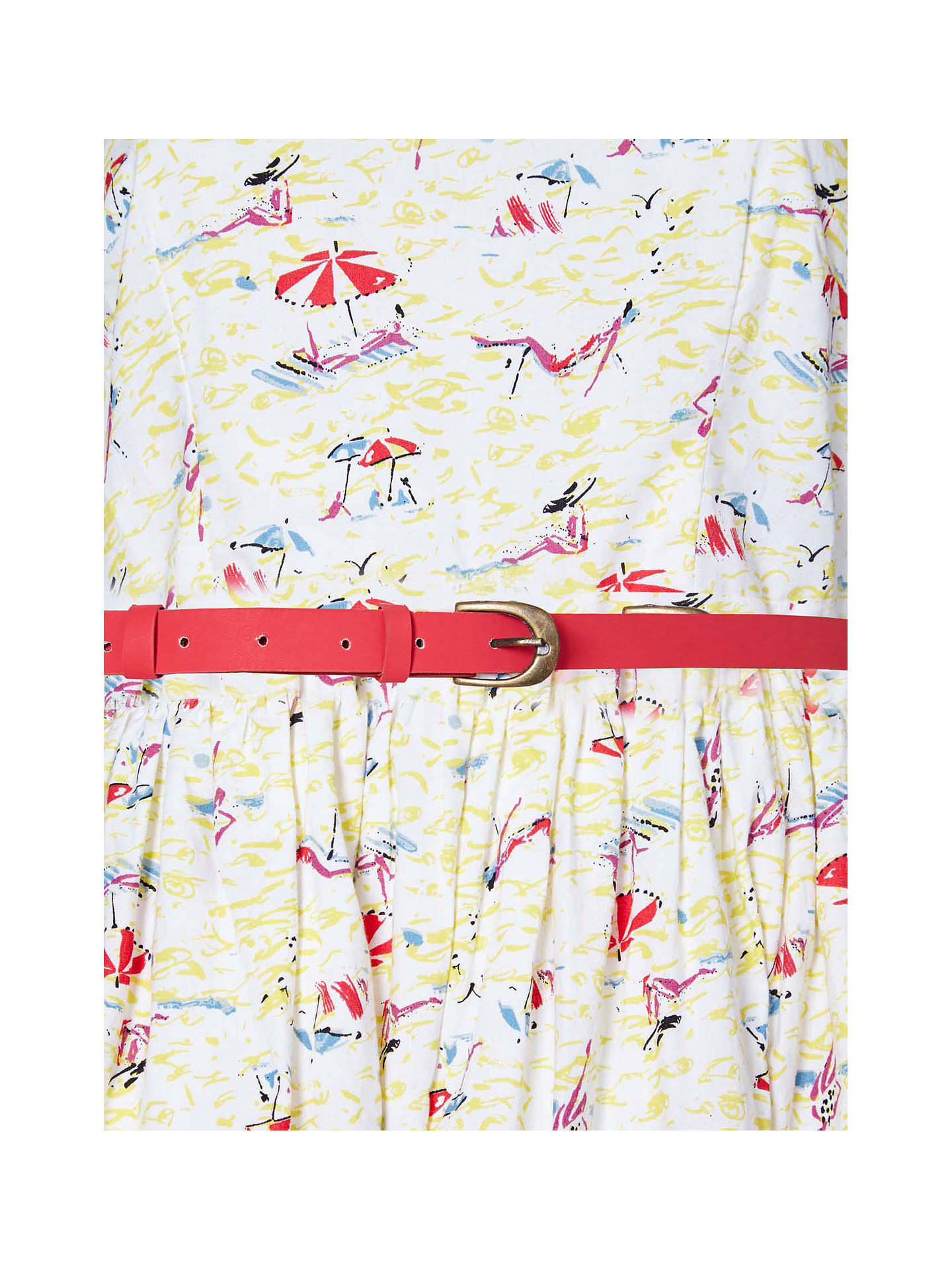 BuyYumi Beach Print Dress, Ivory, 10 Online at johnlewis.com