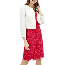 Buy Jaeger Silk and Linen Jacket, Ivory Online at johnlewis.com