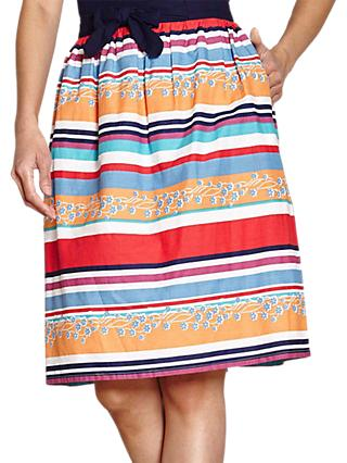 Yumi Colourful Stripe Skirt, Multi