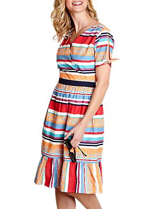 Yumi Colourful Stripe Dress, Multi