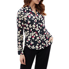 Buy Jaeger Broken Floral Print Blouse, Multi Online at johnlewis.com