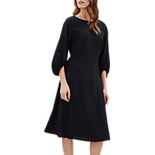 Buy Jaeger Volume Sleeve Crepe Dress, Navy Online at johnlewis.com