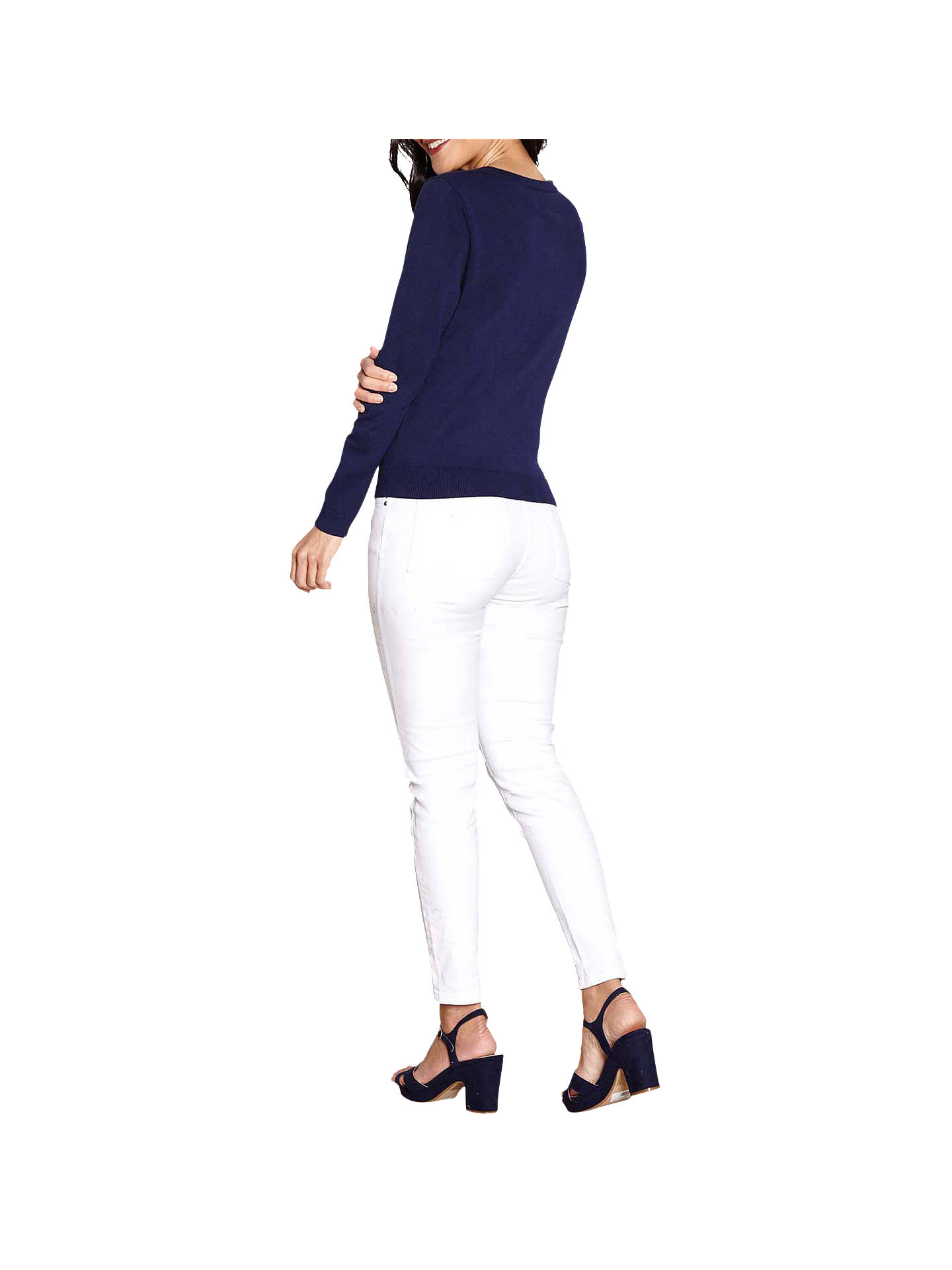BuyYumi Lace Front Cardigan, Navy, S Online at johnlewis.com