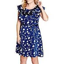 Buy Yumi Curves Tie Waist Dress, Navy Online at johnlewis.com