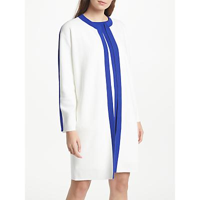 Winser London Pure Cotton Coat, Soft White/Winser Blue