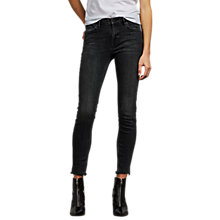 Buy AllSaints Grace Frayed Ankle Jeans, Washed Black Online at johnlewis.com