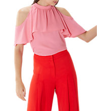 Buy Coast Leighton Cold Shoulder Top, Pink Online at johnlewis.com