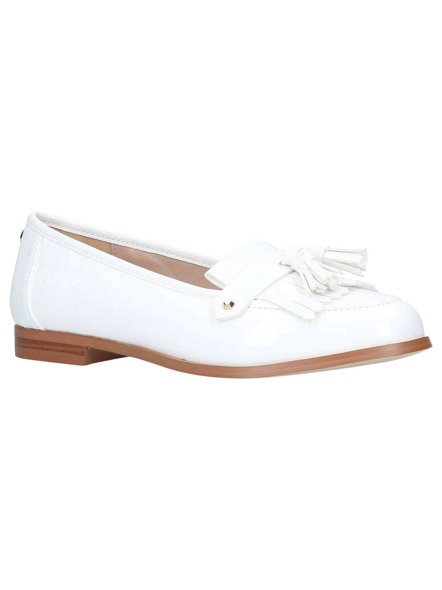 big clearance sale on wholesale 2019 clearance sale Carvela Magpie Tassel Loafers, White at John Lewis & Partners