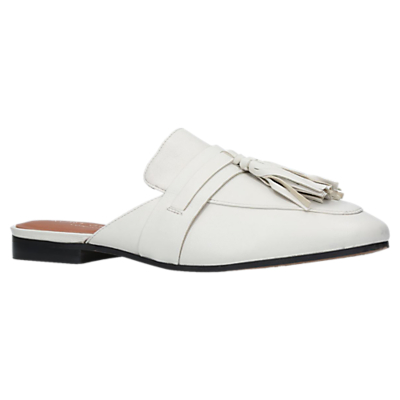 Kurt Geiger Kaiser Backless Loafers, White Leather