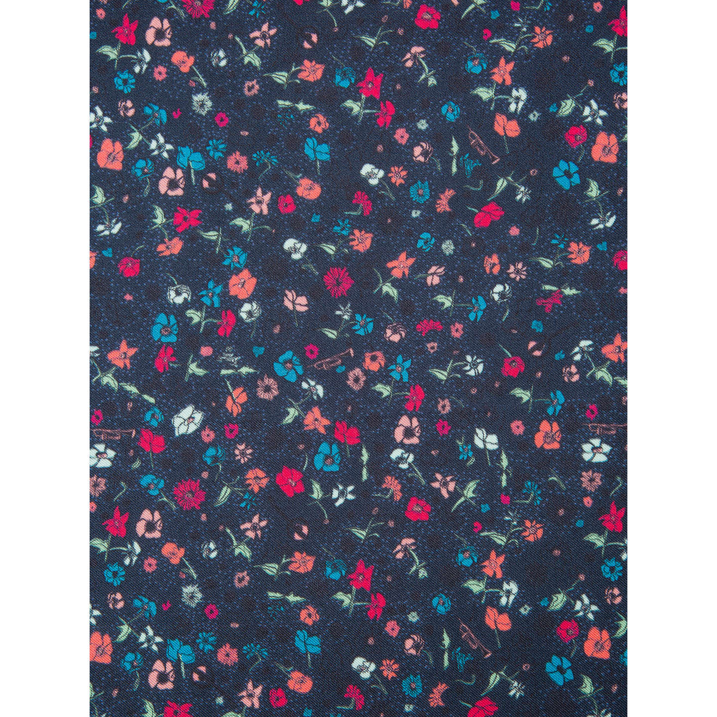 BuyPaul Smith Micro Floral Cotton Pocket Square, Navy Online at johnlewis.com