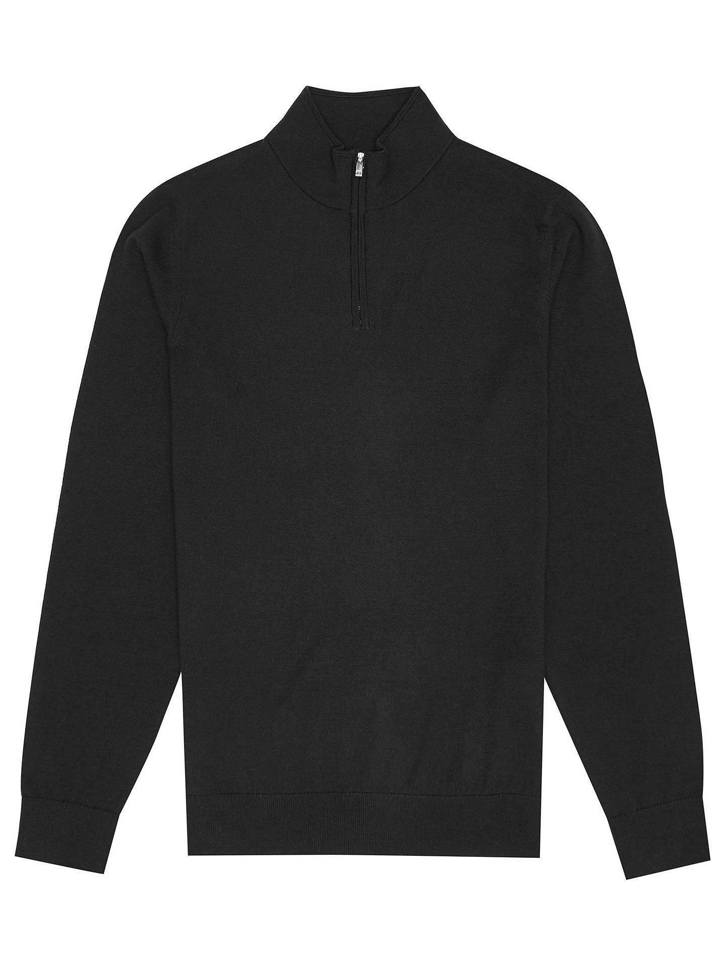 75e9c371491 Reiss Merino Wool Zip Neck Jumper at John Lewis & Partners