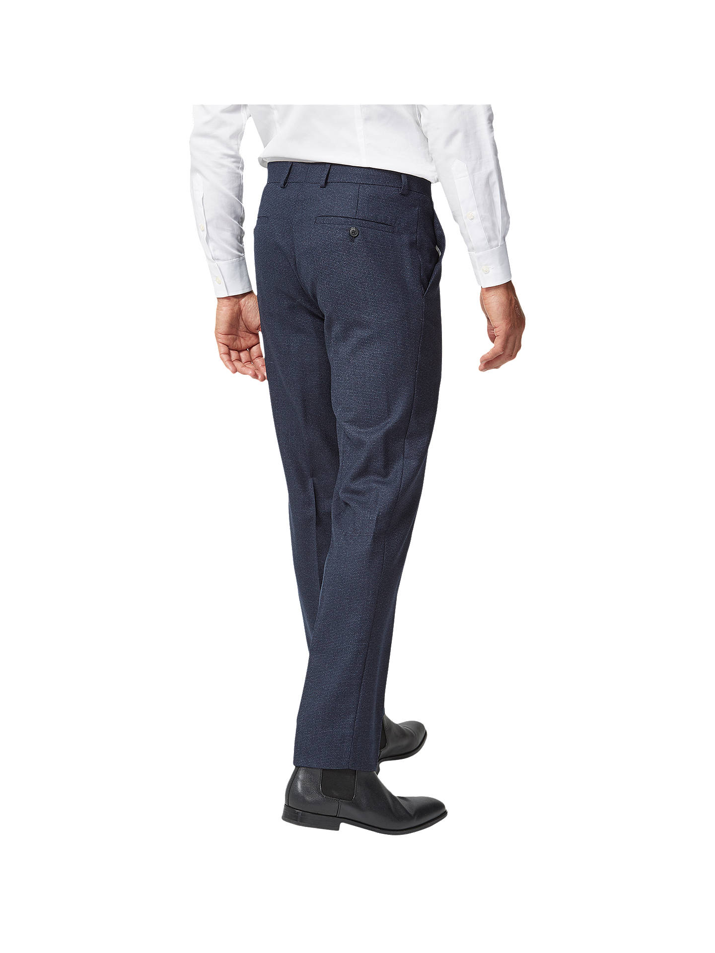 BuyRichard James Mayfair Milled Wool Slim Suit Trousers, Navy, 34R Online at johnlewis.com