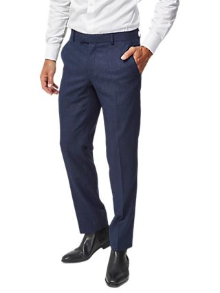 Richard James Mayfair Speckled Wool Slim Suit Trousers, Royal Blue