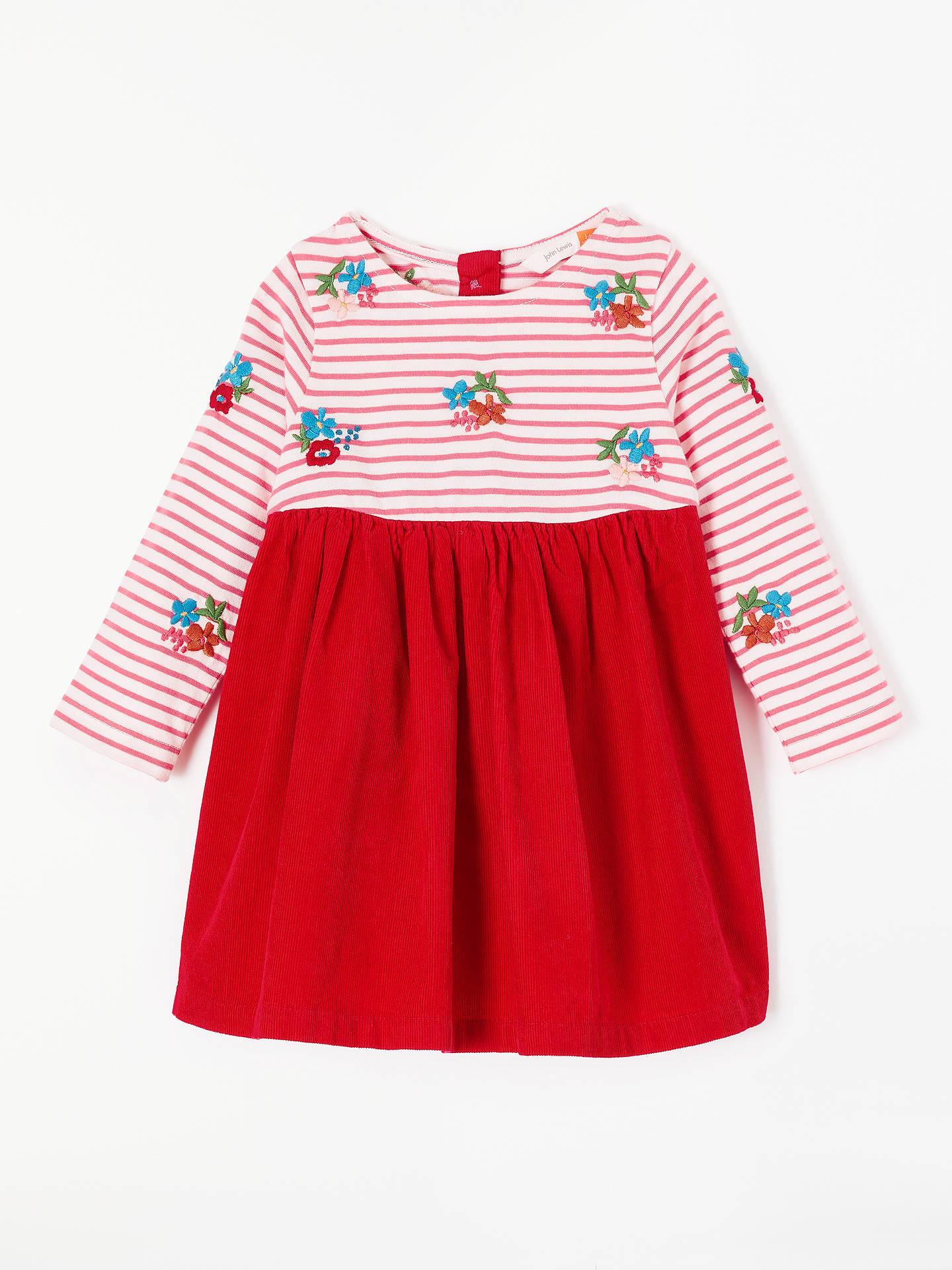 01b94019d Buy John Lewis & Partners Baby Flowers Half and Half Dress, Red, 0- ...