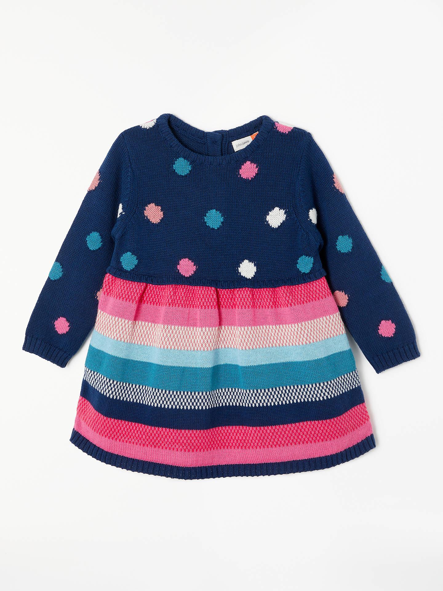 ffda10d4023e John Lewis   Partners Baby Stripe Knit Dress