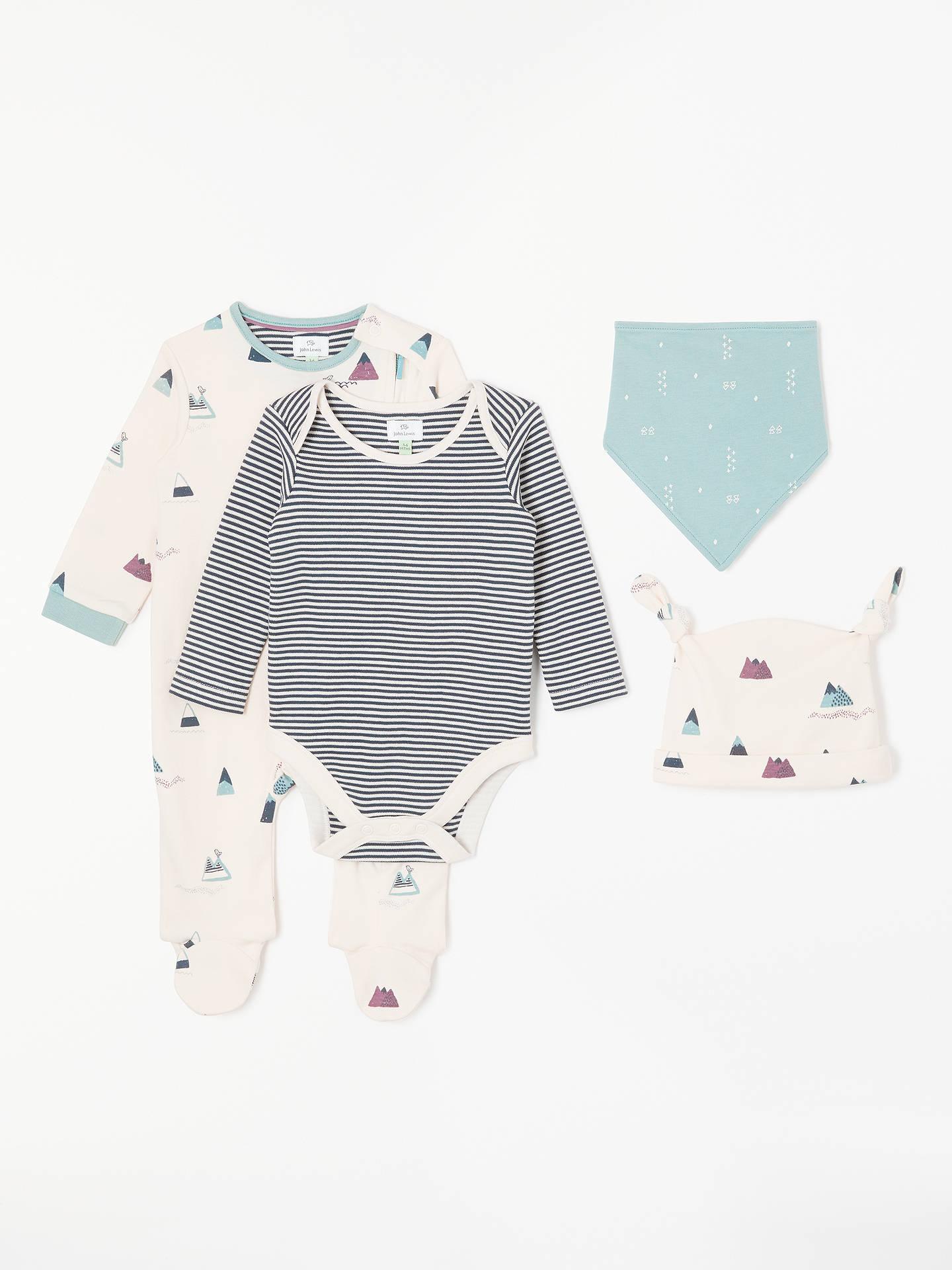 caab3fe6a63 John Lewis   Partners Baby GOTS Organic Cotton Magic Mountain Sleepsuit