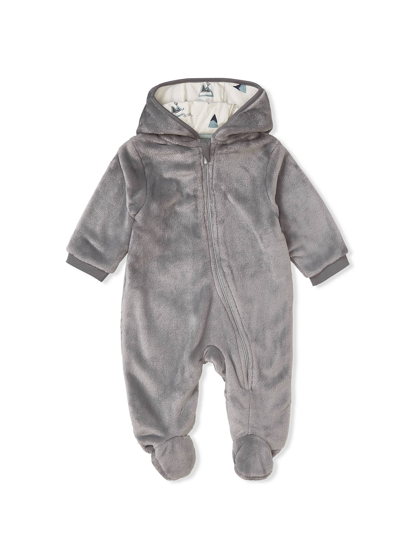 a044fbb06605 John Lewis   Partners Baby Faux Fur All-in-One
