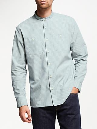 JOHN LEWIS & Co. Fine Stripe Grandad Shirt, Blue