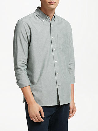 Buy John Lewis & Partners Cotton Oxford Shirt, Ivy, S Online at johnlewis.com