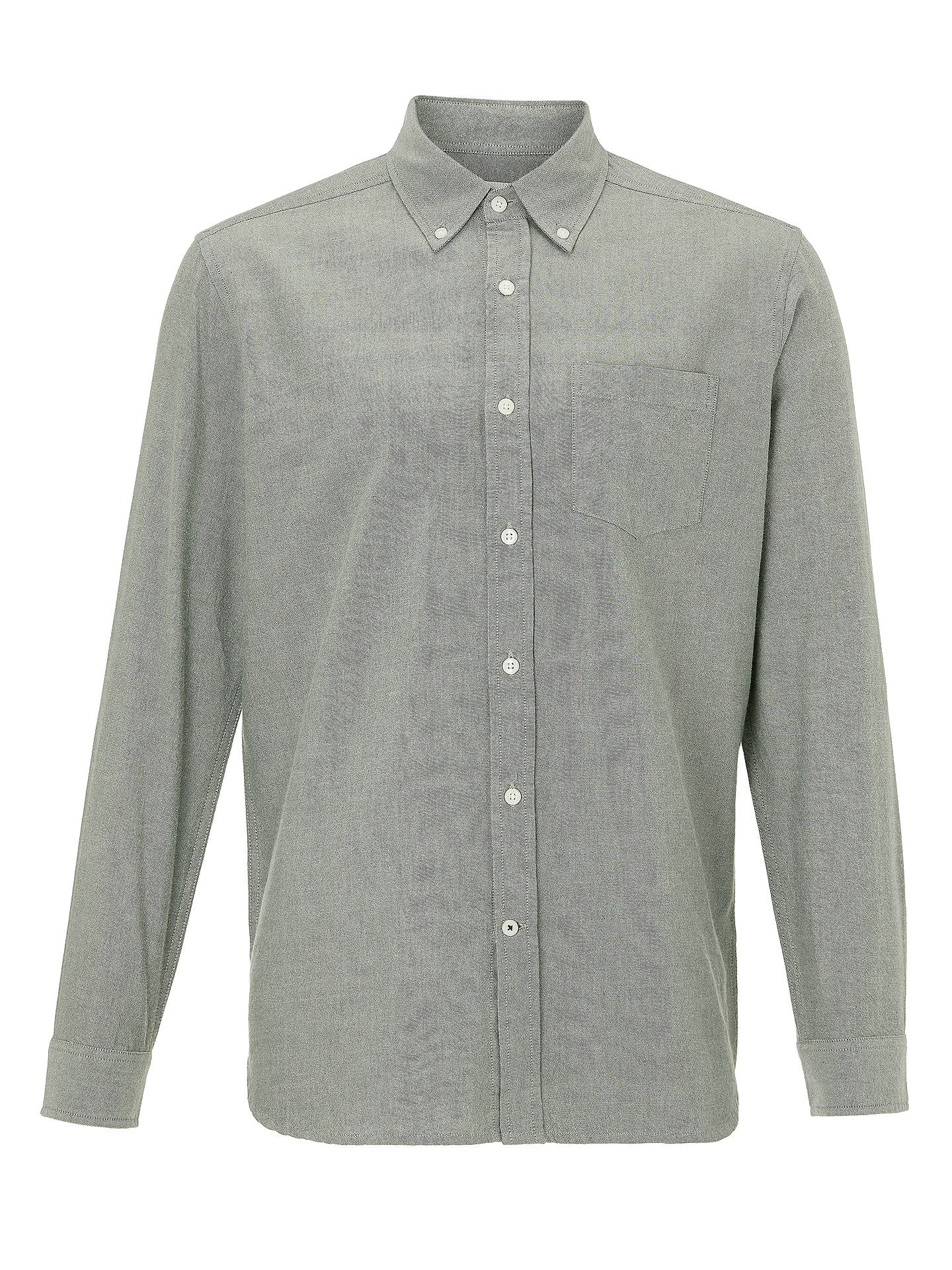 BuyJohn Lewis & Partners Cotton Oxford Shirt, Ivy, S Online at johnlewis.com
