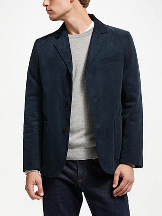 Buy John Lewis & Partners Cord Blazer, Navy, S Online at johnlewis.com