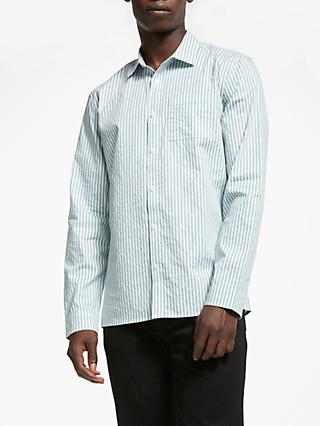 Kin Sage Vertical Stripe Shirt, White
