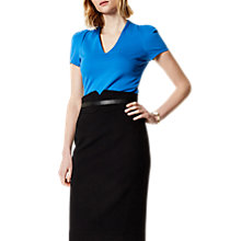 Buy Karen Millen Drama Top, Blue Online at johnlewis.com