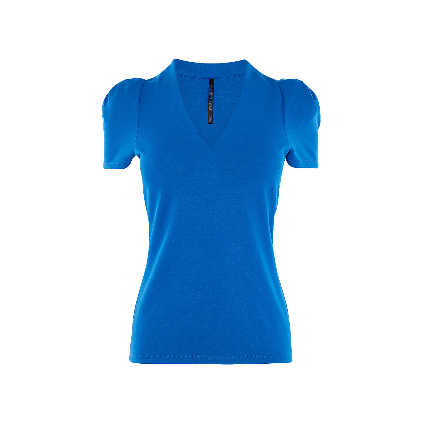 BuyKaren Millen Drama Top, Blue, 8 Online at johnlewis.com