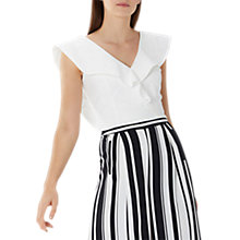 Buy Coast Tia Frill Top, Ivory Online at johnlewis.com