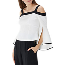 Buy Coast Porcia Tipped Bardot Top, Black/White Online at johnlewis.com