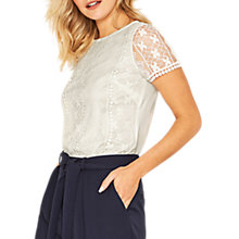 Buy Oasis Pom Pom Lace Top Online at johnlewis.com