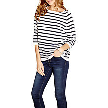 Buy Yumi 3/4 Sleeve Stripe Jumper, White Online at johnlewis.com