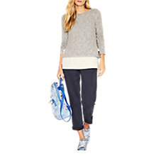 Buy Oasis Tie Side Cosy Top, Pale Grey Online at johnlewis.com