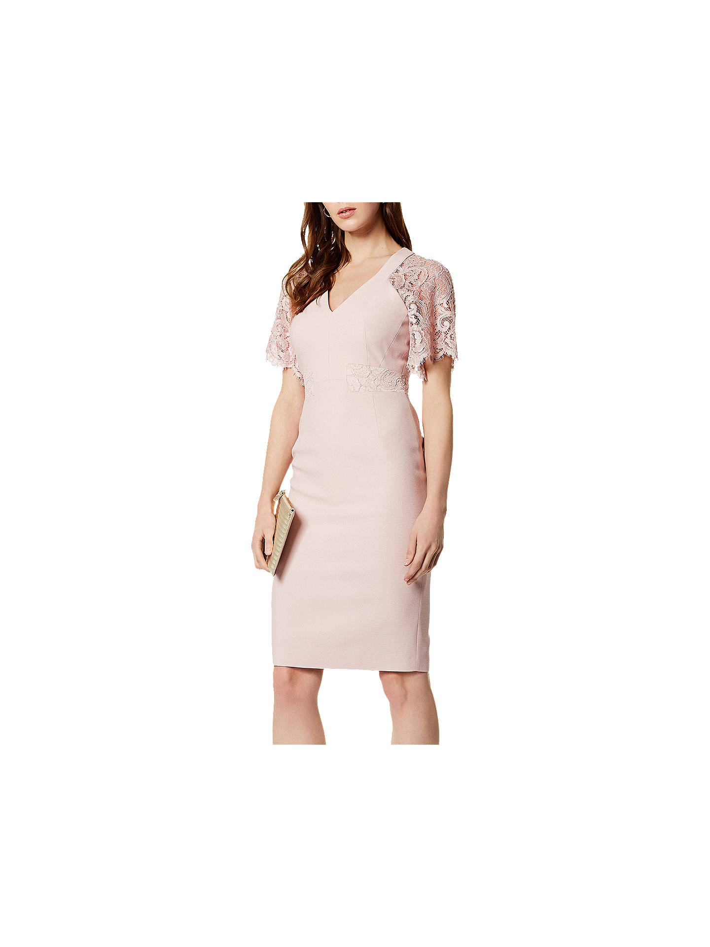 BuyKaren Millen Lace Sleeve Dress, Pink, 6 Online at johnlewis.com