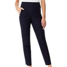 Buy Karen Millen Stretch Collection Trousers, Navy Online at johnlewis.com