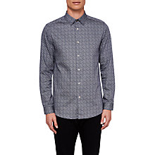 Buy Ted Baker Lorrie Geometric Long Sleeve Shirt Online at johnlewis.com