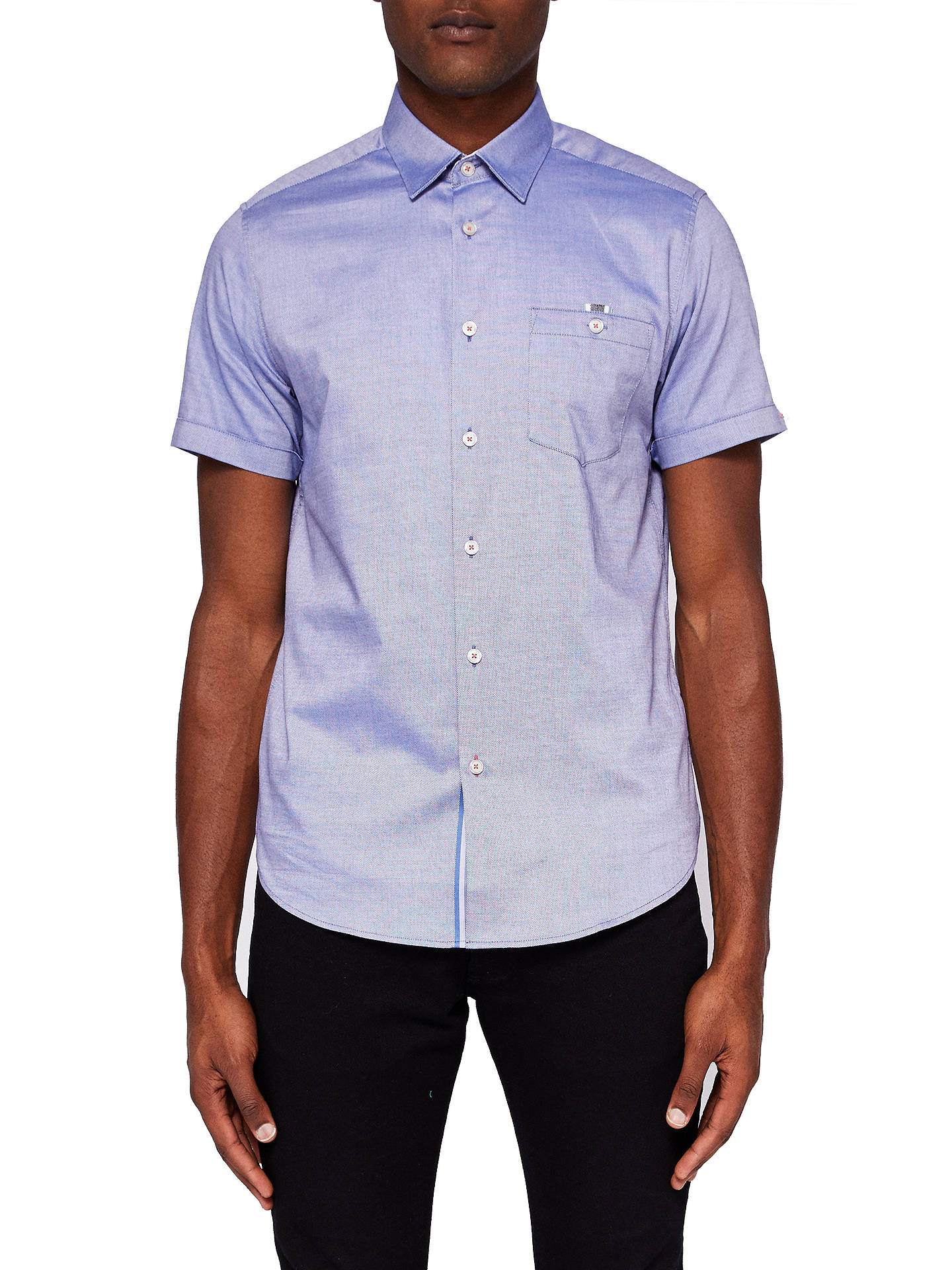 356dd3acccc9cf Ted Baker Wallo Short Sleeve Pocket Shirt at John Lewis   Partners