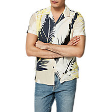 Buy Selected Homme +  Twotommy Cuban Printed Shirt, White Online at johnlewis.com