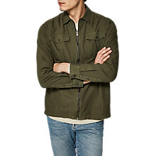 Buy Selected Homme + Twomason Military Shirt, Olive Night Online at johnlewis.com