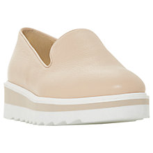Buy Dune Graded Flatform Loafers, Nude Online at johnlewis.com