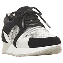 Buy Dune Eavie Lace Up Trainers, Pewter Online at johnlewis.com