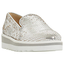 Buy Dune Graded Flatform Loafers, Silver Online at johnlewis.com