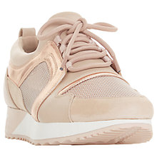 Buy Dune Eavie Lace Up Trainers, Nude Online at johnlewis.com