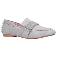 Buy Carvela Lulu Stud Embellished Loafers, Grey Suede Online at johnlewis.com