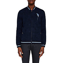 Buy Ted Baker Floral Bomber Jacket, Navy Online at johnlewis.com
